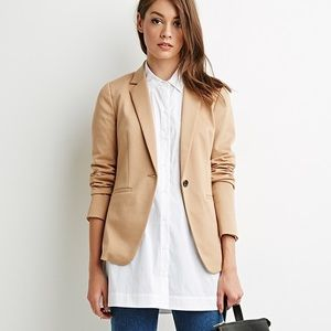 🌟F21 Oversized Tan Blazer
